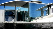 Stock Video Footage of Berlin Marie-Elisabeth-Luders-Haus Parliament Spreebogen