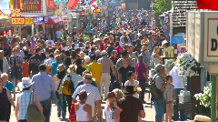 people, crowds at fair, midway, #1 - stock footage