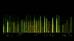Vihreä tausta taajuuskorjain, musiikki rytmi, Volume, aallot, kaiuttimet, spektr Arkistovideo