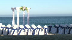 Beach Front Wedding Scenic 1 Stock Footage
