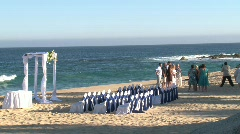 Beach Front Wedding Scenic 3 Stock Footage