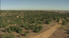 Flying over Spain, Aproaching Toledo Stock Footage
