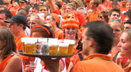 Dutch soccer fans  Stock Footage