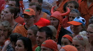 Stock Video Footage of Dutch soccer fans