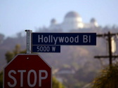 Hollywood Blvd Sign 01 PAL Stock Footage
