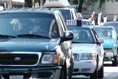 Michigan Ave., Street, Cars, Pedestrians Stock Footage