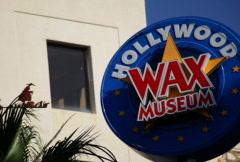 Hollywood Wax Sign NTSC Stock Footage