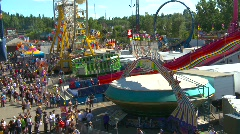 Ride above midway carnival, #7 Stock Footage
