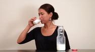Drinking milk Stock Footage