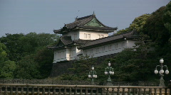 Japanese Imperial Palace Stock Footage