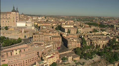Over the Old Town of Toledo, Spain. Stock Footage