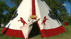 native indian teepee, tilt - stock footage