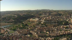 Spectacular view of Toledo aerial Stock Footage