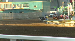 Rodeo, chuckwagon race, #3 Stock Footage