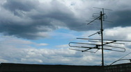 Antenna on roof and cloudscape time lapse Stock Footage