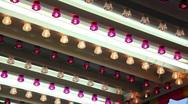 Flashing Carnival Lights 1792 Stock Footage