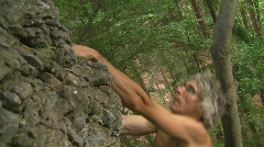 Climber free solo Stock Footage