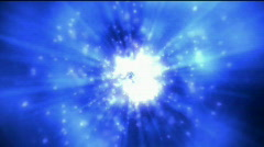 Explosion tech energy flare dynamic rays fiber light nebula in universe. Stock Footage