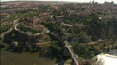 Toledo from the River, aerial Stock Footage