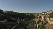 Toledo Bridge and Academy of Infantry Stock Footage