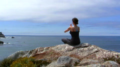 Meditation by the ocean V5 - HD Stock Footage