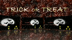 Halloween haunted house with bats on blood - Trick or Treat - Home - Blood - Sca Stock Footage