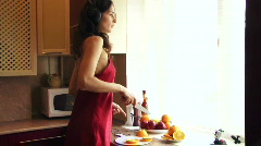 Dance housewives in the kitchen Stock Footage
