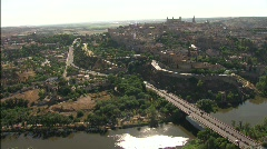 Wonderfull Toledo from the River Stock Footage