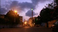 Shia Al'am (Flag Mast) Outside Shia Mosque in Karachi, Pakistan Stock Footage