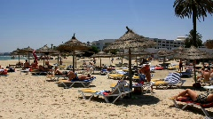Beach in Sousse, Tunisia Stock Footage