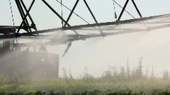 Irrigation of a potato field Stock Footage