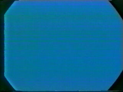 Bad TV, blue background rough transfer and sound Stock Footage