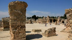 Ancient Carthage in Tunisia Stock Footage