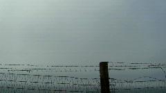 Fenced off beach V1 - HD Stock Footage