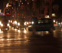 Vegas Strip cars stopped Stock Footage
