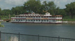 Riverboat on Mississippi Stock Footage