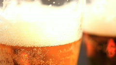 Beer in glass Stock Footage