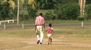 Stock Video Footage of father walking with daughter