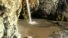 Waterfall on pristine beach V10 - HD Stock Footage