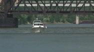 Boat & Bridge Stock Footage