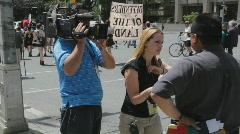G20 Toronto. Interviewer. Stock Footage