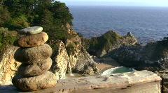 Waterfall and Zen rocks V2 - HD Stock Footage