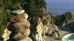 Waterfall and Zen rocks V1 - HD Stock Footage