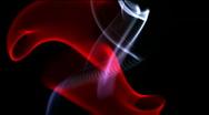 Abstract flowing silk smoke background network fractal art firework backdrop. Stock Footage