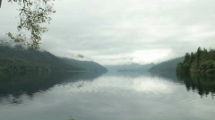 Lake Crescent Pan - Olympics Stock Footage