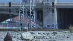 Train Tracks and Bridge 2 Stock Footage