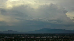 AZ monsoon 2010 - storm moving over the valley 1 - time lapse Stock Footage