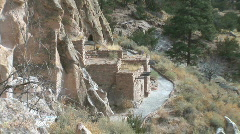 Anasazi Adobe Lodge-zooms Stock Footage