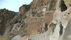 Anasazi Adobe Ruins-pans Stock Footage