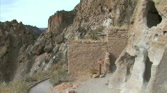 Anasazi Adobe Ruins-zooms - stock footage